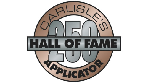 Carlisle's Hall of Fame Status - Quality Recognition Program - D&D Roof Services Awards