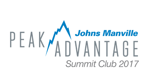 Johns Manville - Summit Club - D&D Roof Services Awards