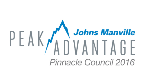 Johns Manville - Pinnacle Council - D&D Roof Services Awards